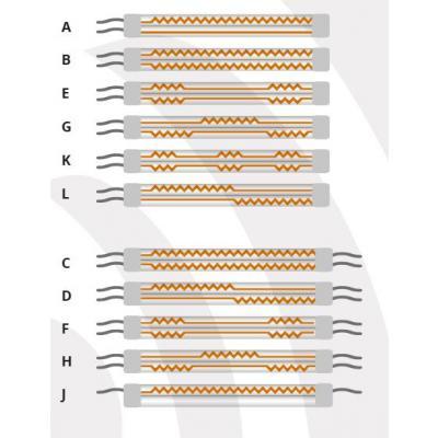 IR- Zwillingsrohrstrahler 400V 5400W 1200mm Typ:H (Speedmaster 102 SM102 CD102)