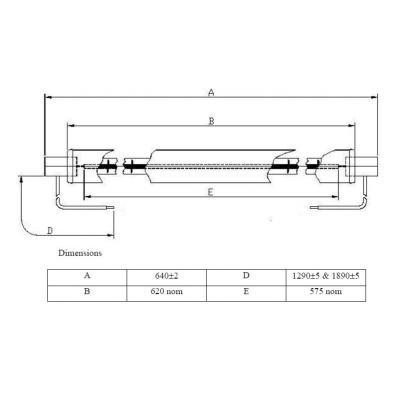 IR Lampe 3221292  240V 833W 640mm SK15 (Import)