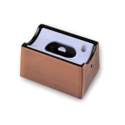 Fassung Linienlampe für Osram Linestra Ralina S14d ein Sockel Bronze Rot