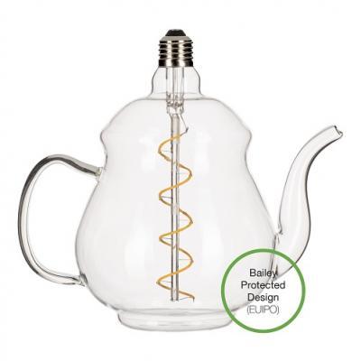 Bailey Teapot Teekanne LED Lampe Earl Clear E27 4W 2200K Dimmbar