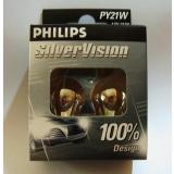 2er Blister Philips 12496SV B2 PY21W SilverVision