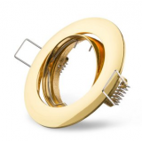 Metall-Einbaustrahler -Gold- schwenkbar  DA 68mm