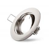 Metall-Einbaustrahler -Eisen gebürstet- schwenkbar  DA 75mm