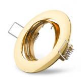 Metall-Einbaustrahler -Gold- schwenkbar  DA 75mm