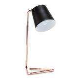 LED Tischleuchte Vintage Kupfer 4W = 40W E14 Filament Schirm schwarz Retro Industrie Design Metall Tischlampe